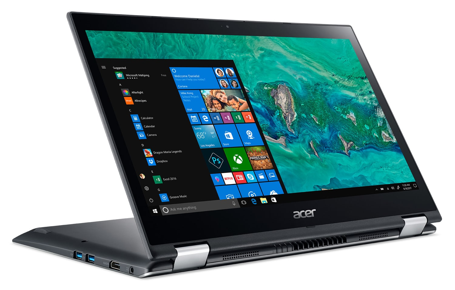 "Acer Spin 3 SP314-51-P79W 498€, Ultrabook 14"" Full IPS Tablette SSD Kaby"