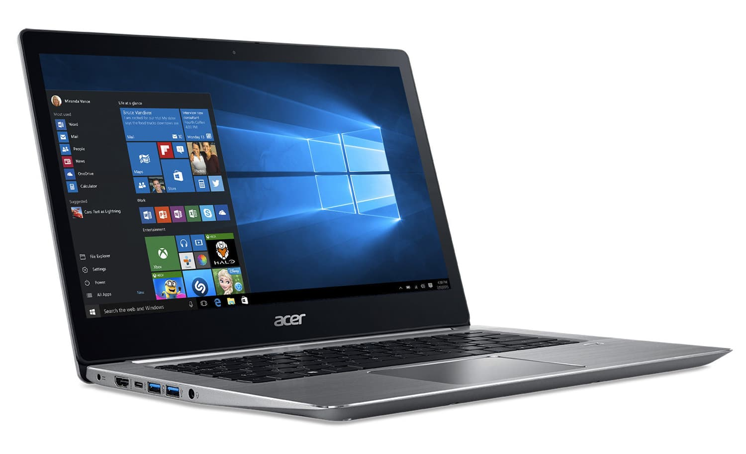 Acer Swift 3 SF314-52-35N6 à 599€, Ultrabook 14 pouces Full IPS Kaby Lake SSD
