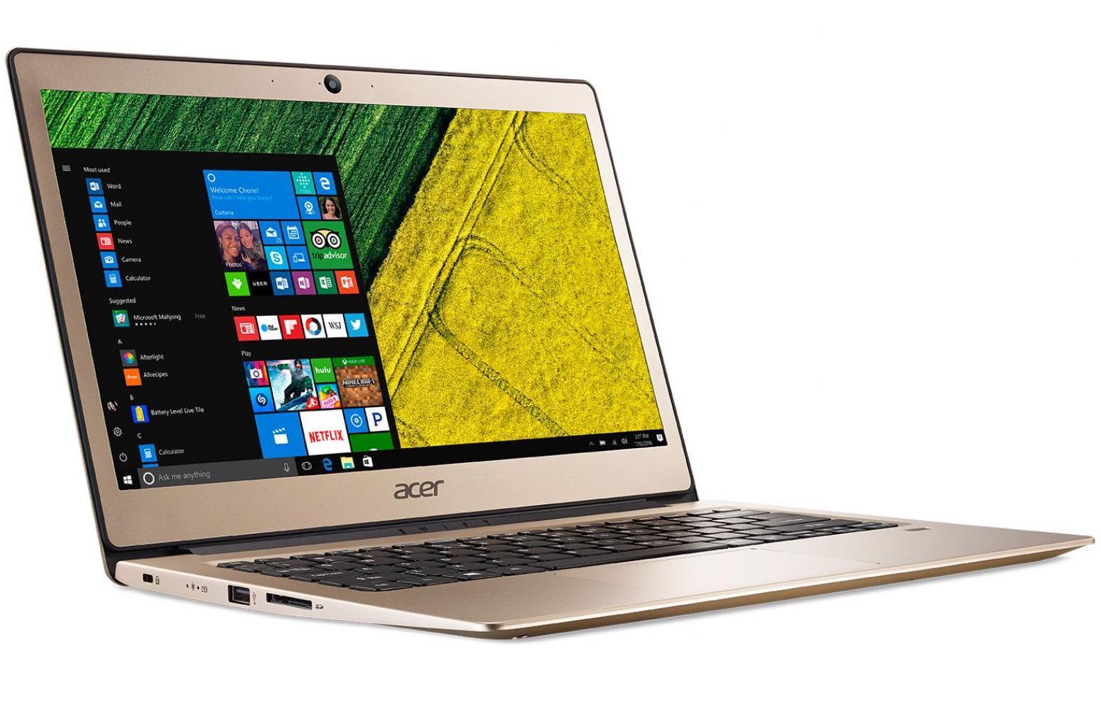 Acer Swift SF113-31-P14U, ultrabook 13 pouces fin Or Full IPS SSD (338€)