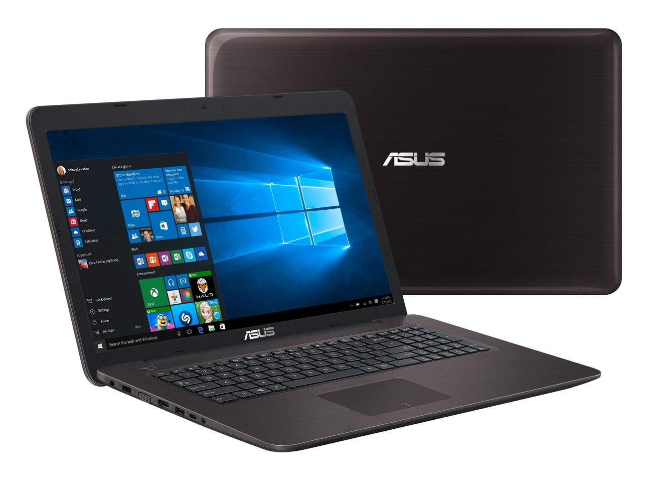 "Asus X756UQ-T4399T à 849€, PC portable 17"" Full 940MX 8 Go i5 marron"