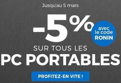 """<span class=""""tagtitre"""">Bon Plan - </span>5% de remise sur les PC portables chez GrosBill"""