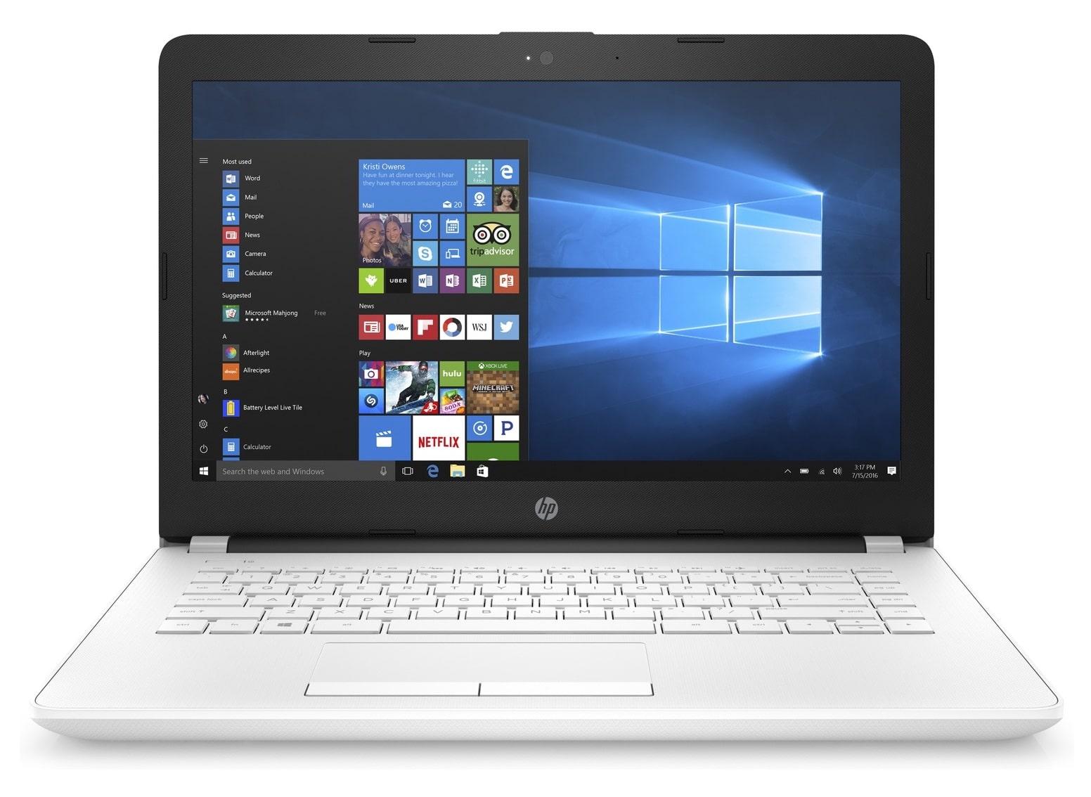 HP 14-bs002nf, PC portable 14 pouces bureautique SSD Blanc à 328€