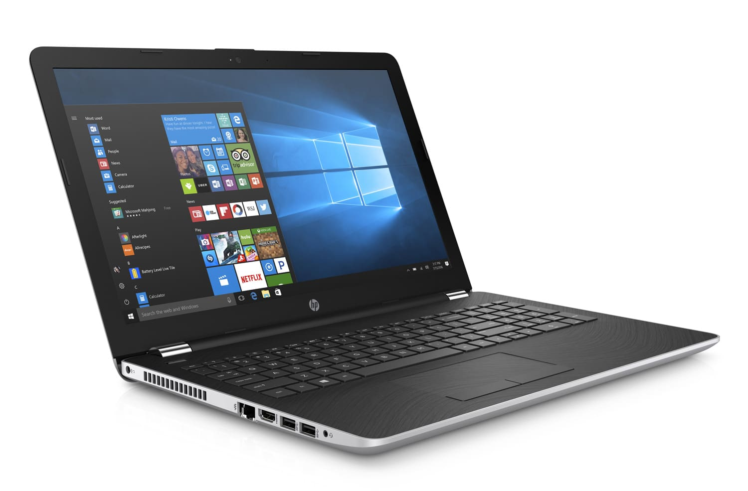 HP 15-bs096nf à 599€, PC portable 15 pouces SSD 128+1 To i3 Radeon 6 Go