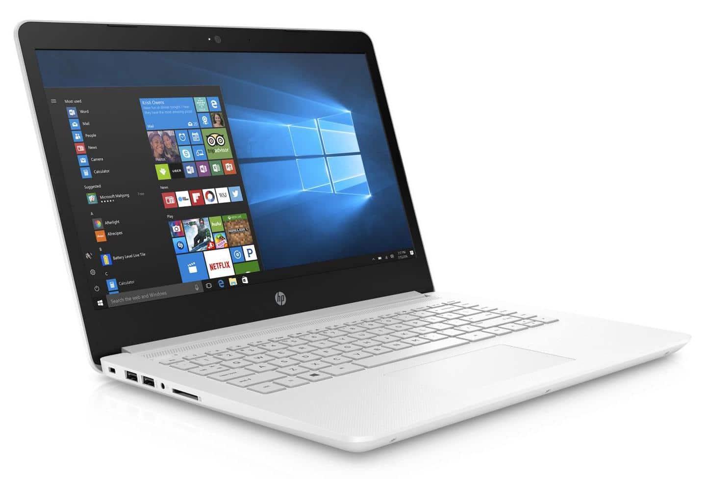 HP 14-bp032nf, 14 pouces Blanc SSD 256 Go (369€)
