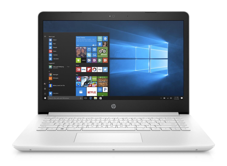 HP 14-bp033nf à 579€, PC blanc 14 pouces SSD 256 Go 7h (449€)