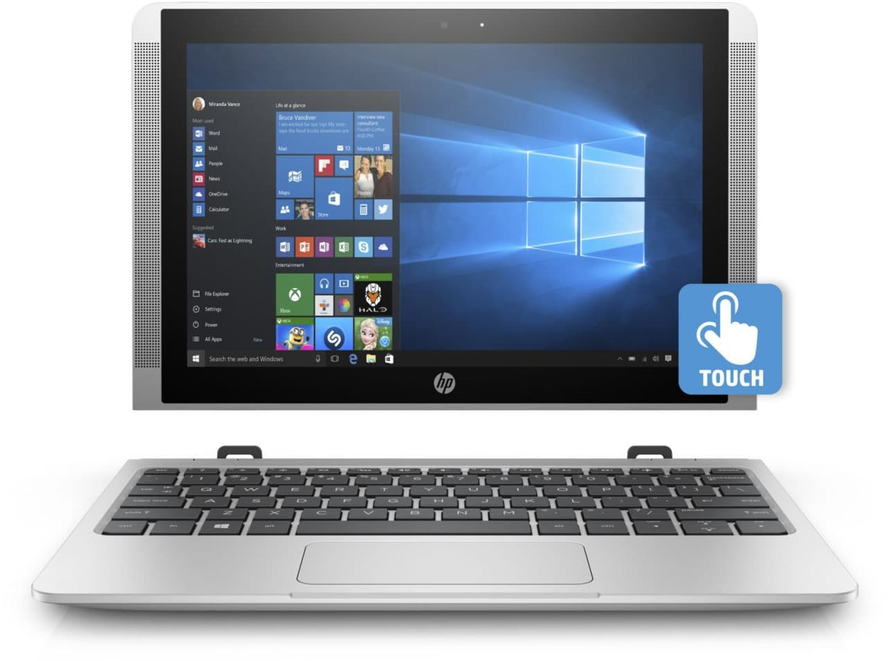 HP x2 10-p034nf, Tablette 10 pouces IPS bureautique SSD 128 Go à 399€