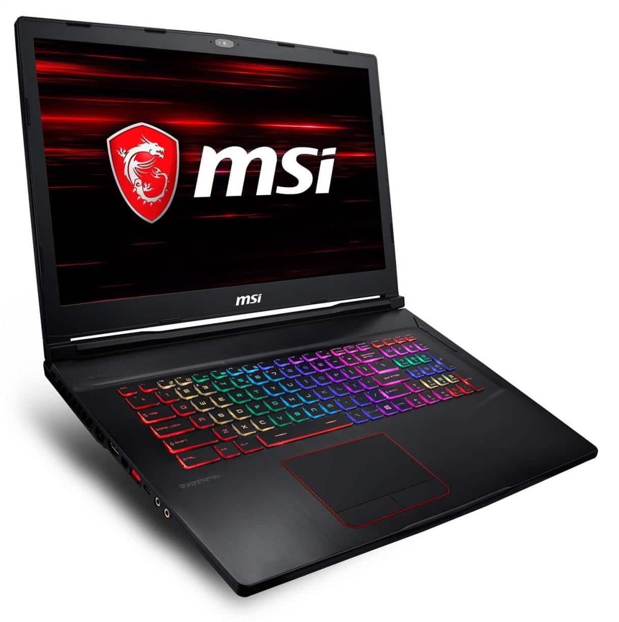 "MSI GE73 8RF-030X, PC gamer 17"" 120Hz i7-8750H 1070 (1499€)"