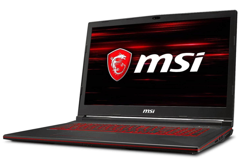 MSI GL73 8RC-025X, PC portable 17'' Core i7-8750H GTX SSD (929€)