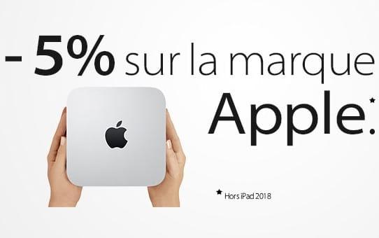 """<span class=""""tagtitre"""">Materiel.net - </span>5% de remise sur la marque Apple (dont MacBooks)"""