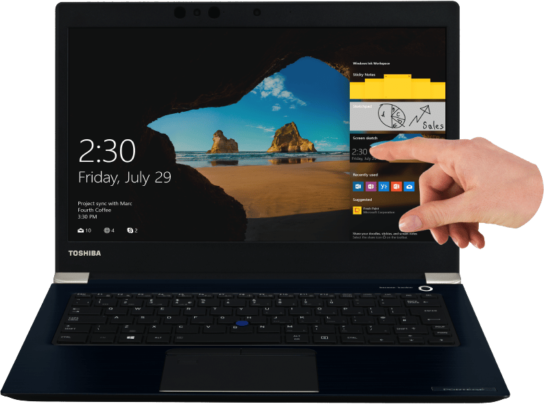 Toshiba Portégé X30-E, nouvel Ultrabook 13 pouces Kaby Lake Refresh 4G