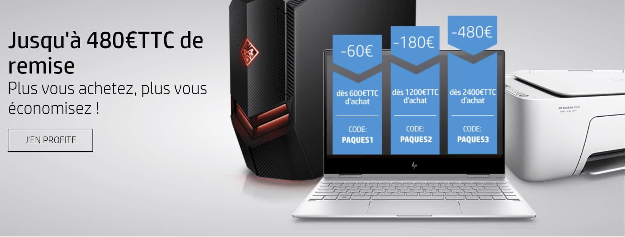 """<span class=""""tagtitre"""">Bon plan - </span>Jusqu'à 480€ de remise immédiate sur la boutique en ligne HP Store"""