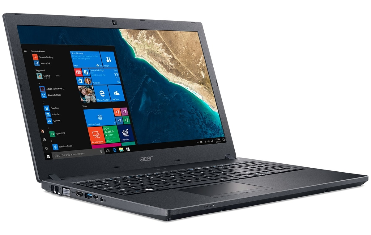 "Acer TravelMate P2510-M-386X à 646€, PC portable 15 "" mat SSD 256 Kaby Pro"