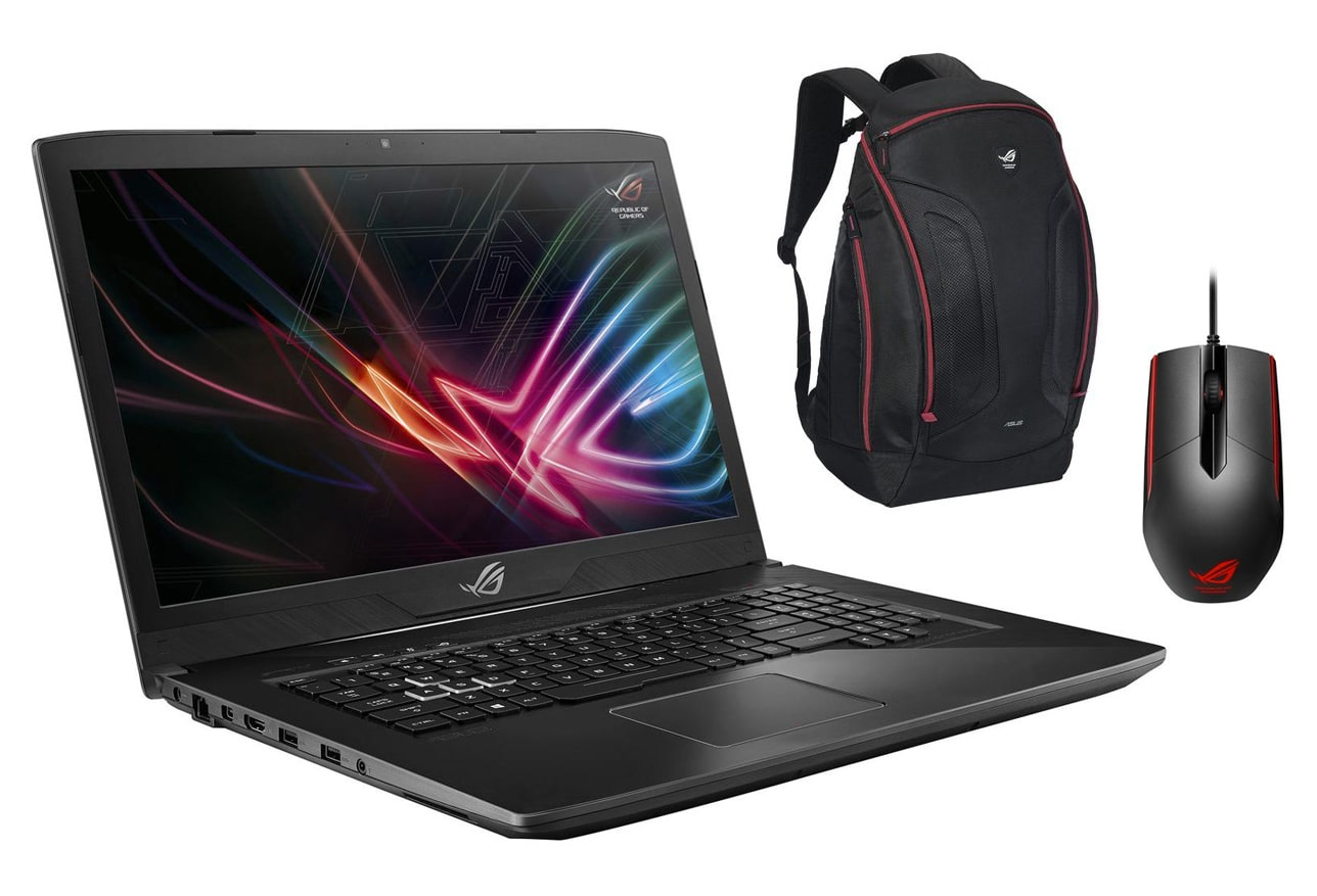 "Asus ROG Strix GL703GE pack, PC portable 17"" IPS Coffee Lake GTX 1050Ti à 1499€"