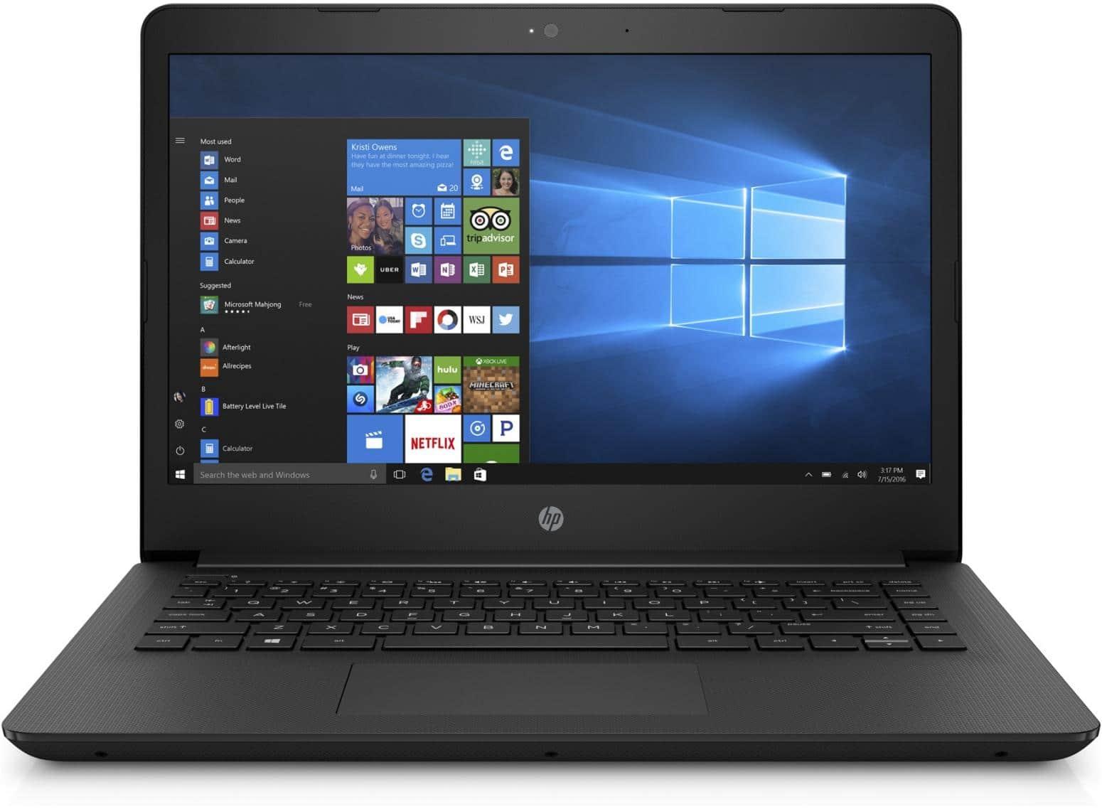 HP 14-bp042nf, ultraportable 14 pouces Noir bureautique SSD+HDD Core i3 à 499€