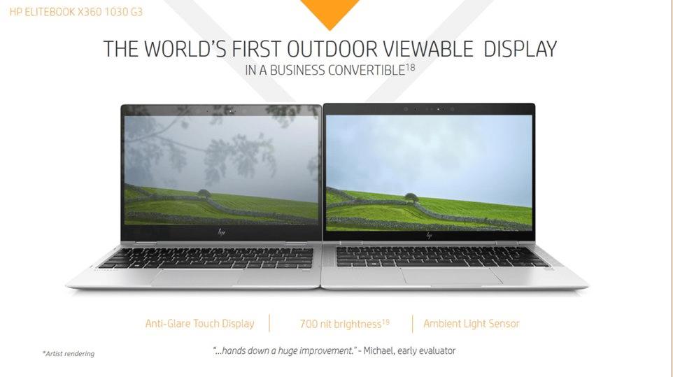 HP EliteBook x360 1030 G3, Ultrabook 13 pouces Pro convertible en Tablette