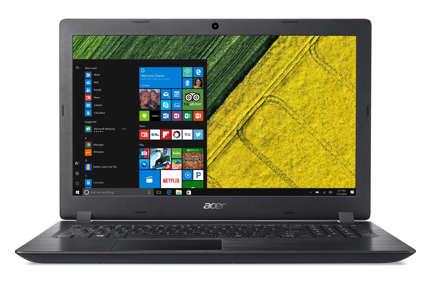 "Acer Aspire A315-51-35AL, PC portable 15"" Full SSD Kaby Lake (489€)"