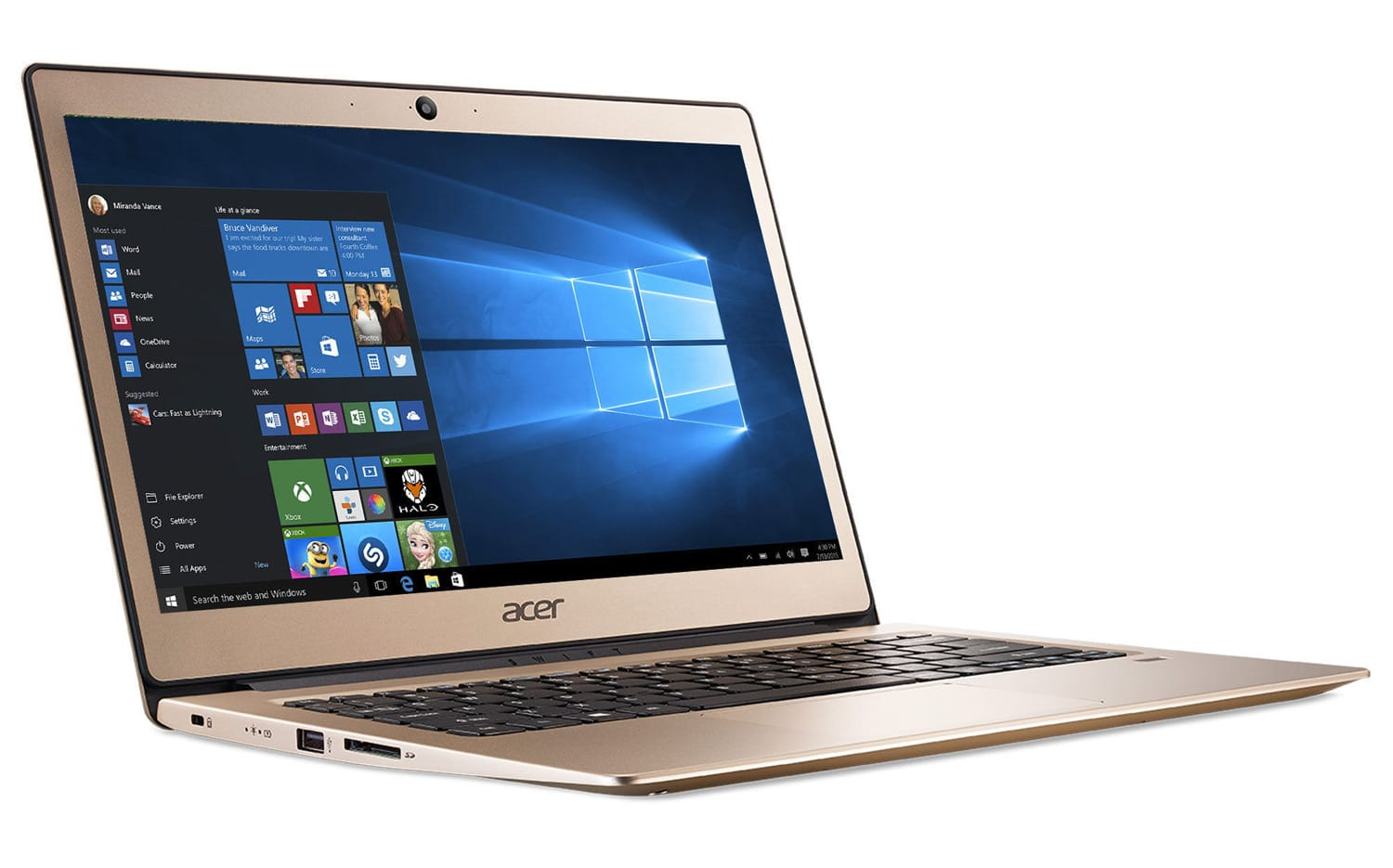 """Acer Swift SF113-31-C74M, ultraportable 13"""" Or Full IPS Apollo Lake SSD à 269€"""