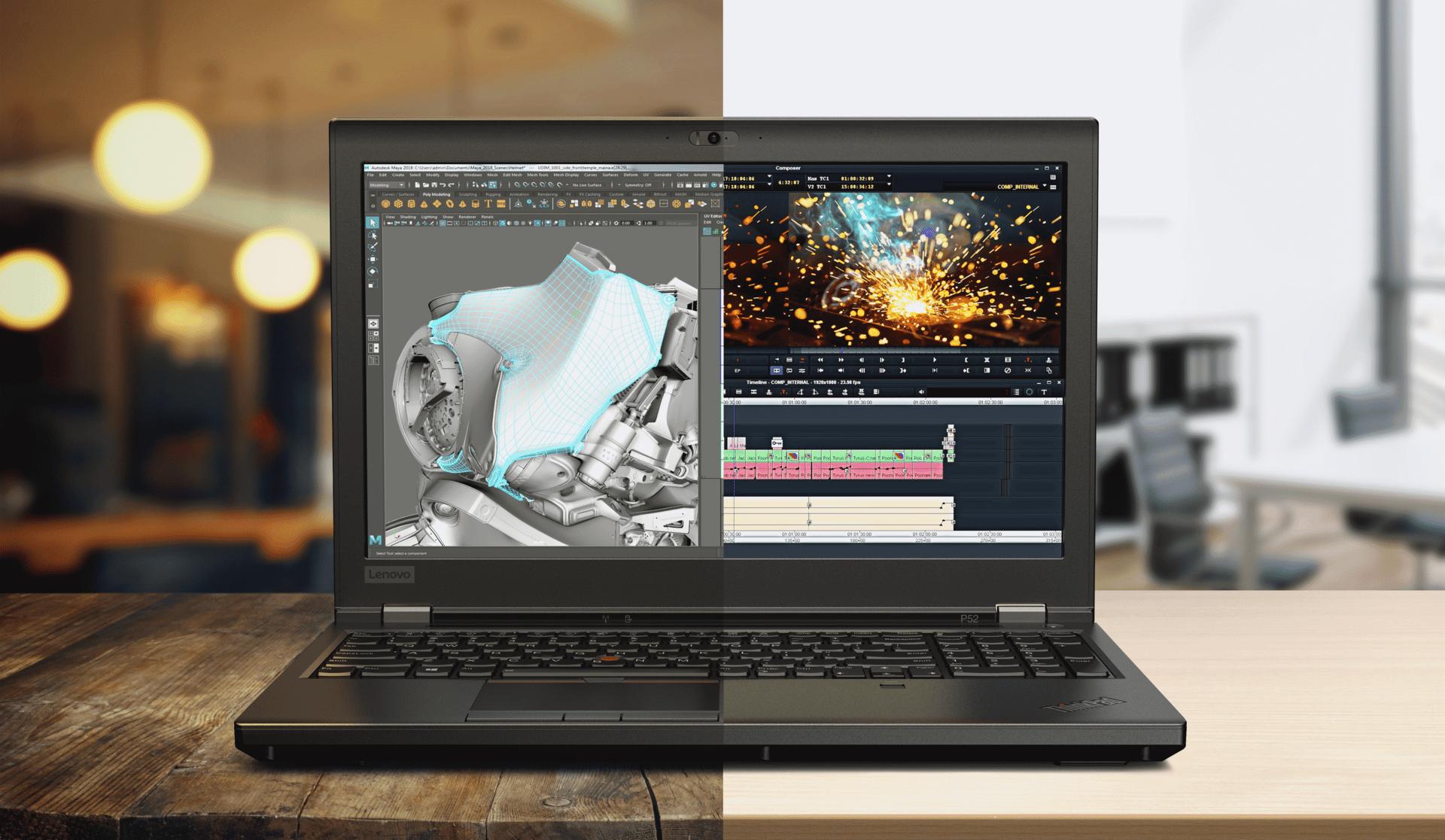 "Lenovo ThinkPad P52, PC portable 15"" Pro avec Quadro P3200 et Coffee Lake"