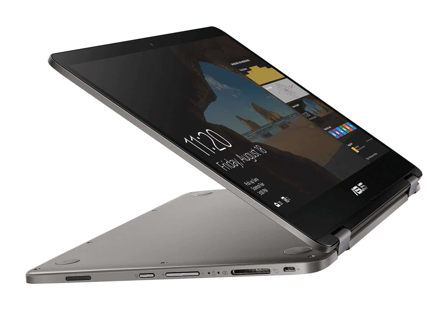 Asus Flip TP401NA-BZ073T, ultrabook 14 pouces Tablette SSD Apollo (299€)