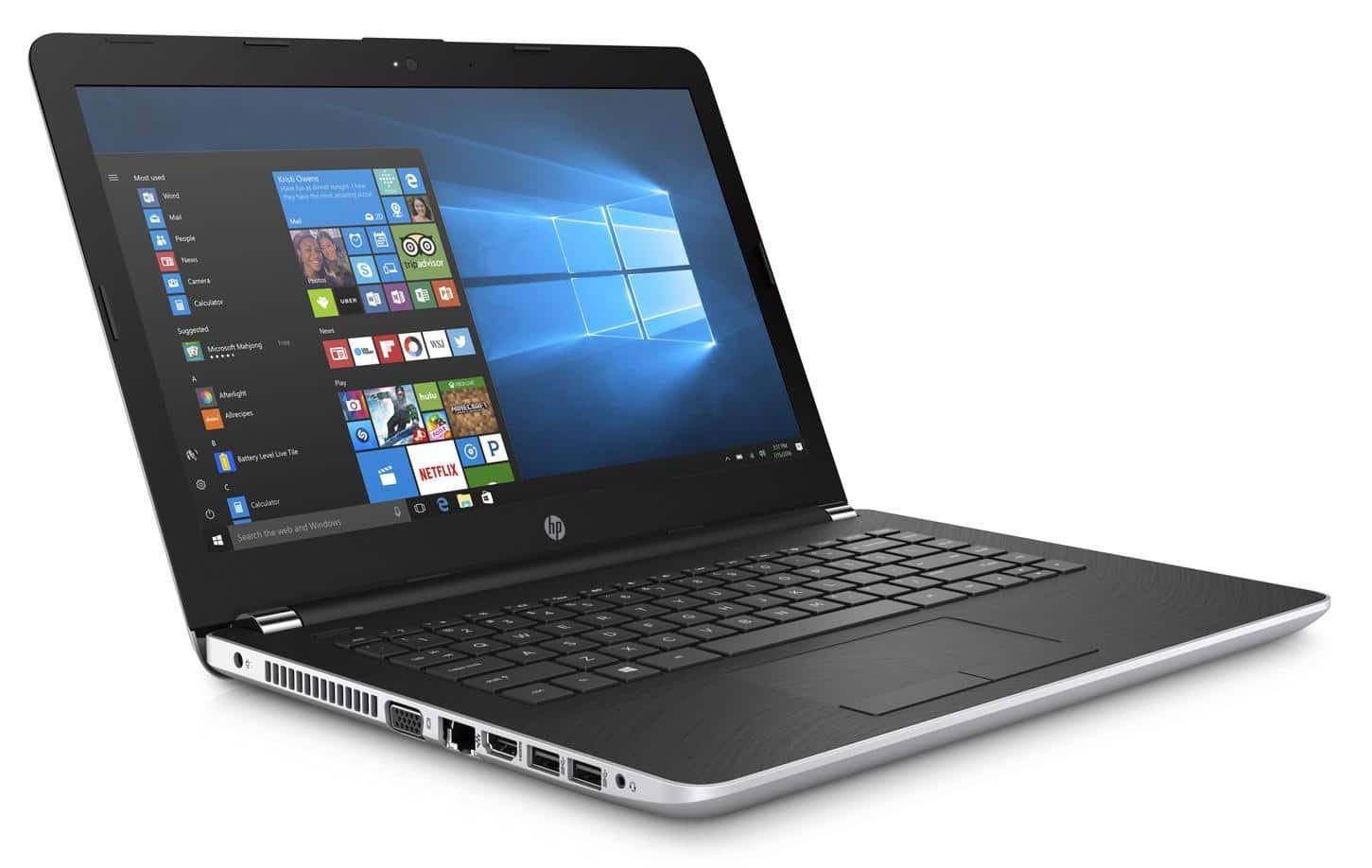 HP 14-bw009nf, PC portable 14 pouces bureautique 128 Go (265€)