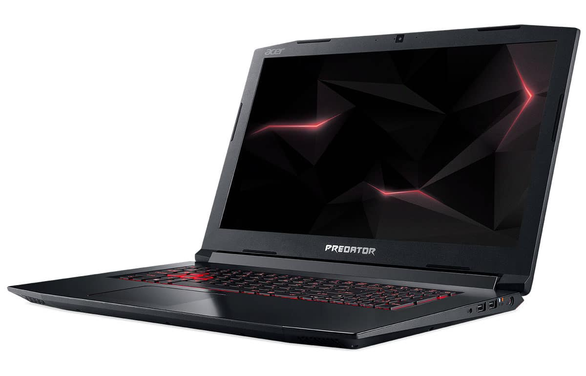 "Acer Predator PH317-52-500U, 17"" gamer GTX 1060 (918€)"