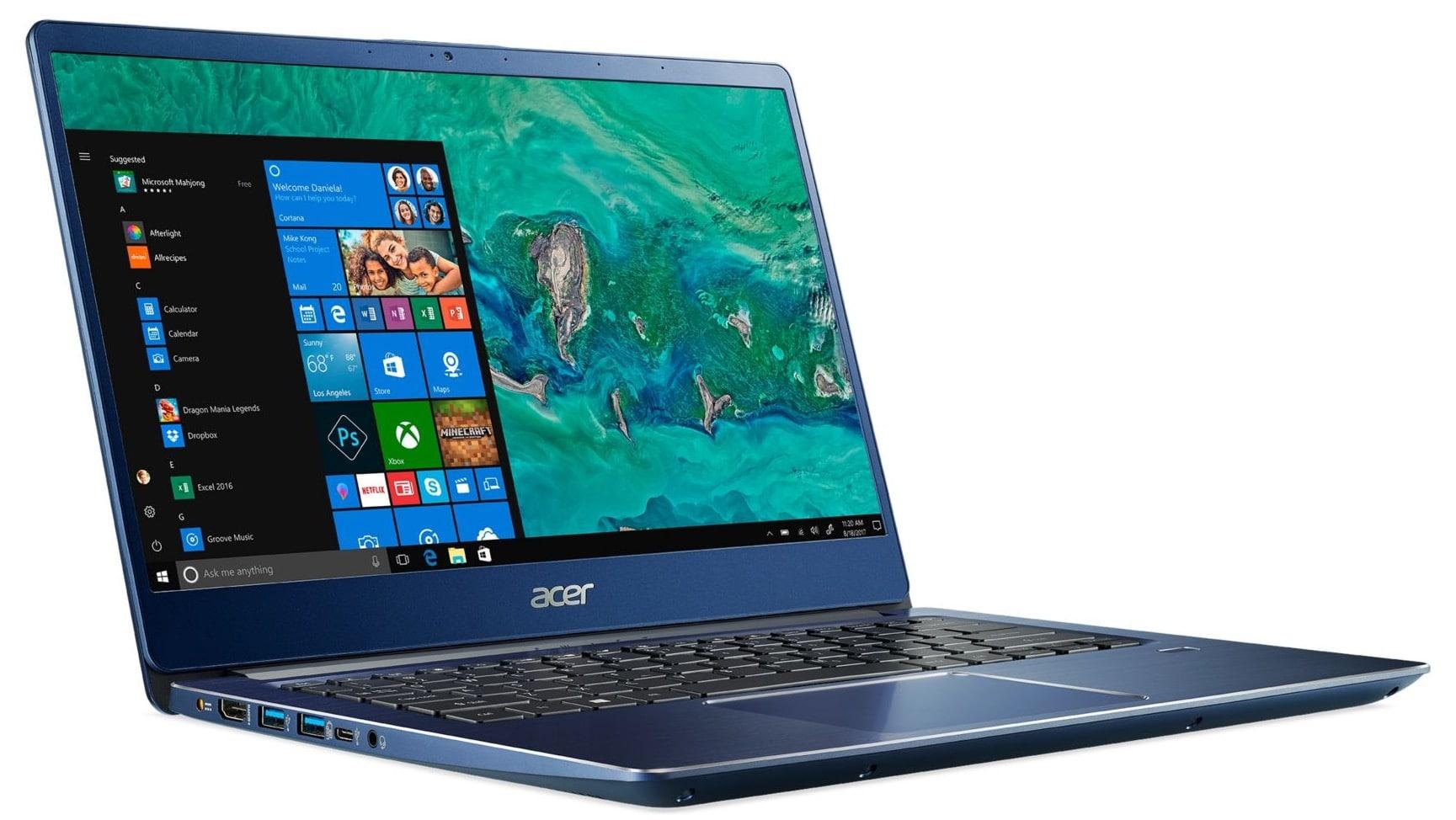 Acer Swift 3 SF314-54-31BQ, ultrabook 14 pouces Bleu Full IPS Core i3 à 499€