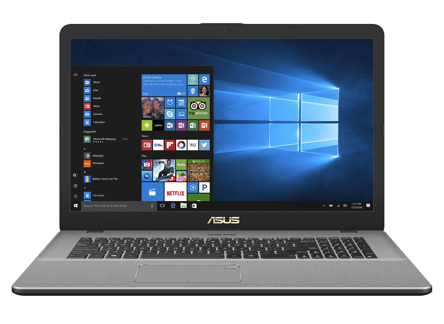 "Asus R702UA-BX279T à 499€, PC portable 17"" mat SSD 128 Go+1 To"