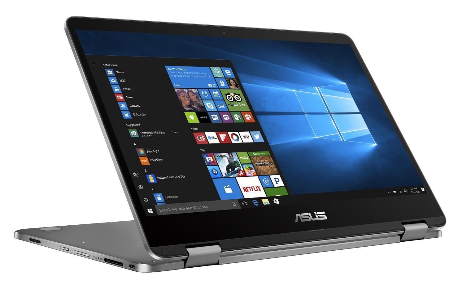 "Asus Flip TP401MA-BZ084T 549€, Ultrabook 14""/Tablette SSD Gemini Lake (349€)"
