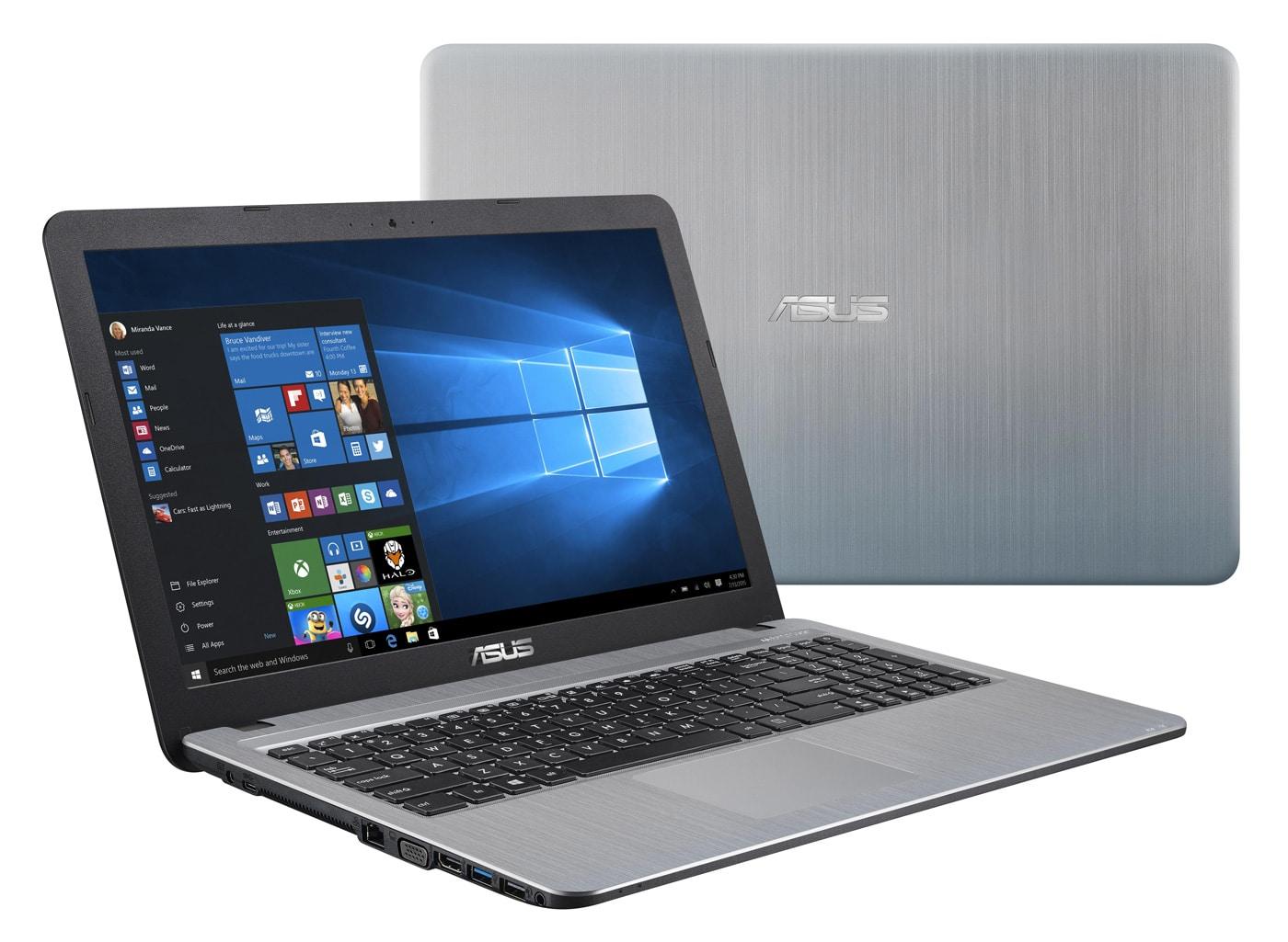"""Asus X540BA-GO103T à 449€, PC portable 15"""" SSD 256 Go argent"""