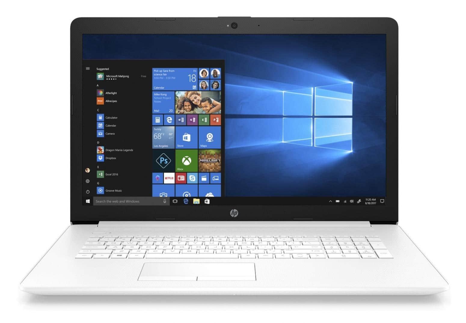 HP 17-by0133nf, PC portable 17 pouces bureautique Core i3 Kaby Lake pack 449€