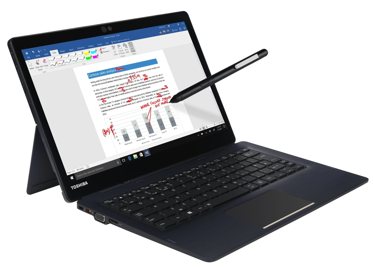"<span class=""tagtitre"">IFA 2018 - </span>Toshiba Portégé X30T, Ultrabook 13"" convertible Tablette"