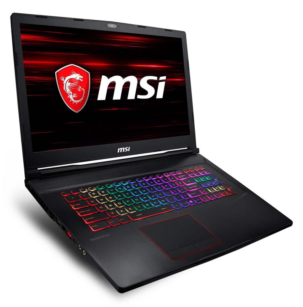 MSI GE73 8RF-455X, 17 pouces PC portable gamer 120Hz (1299€)