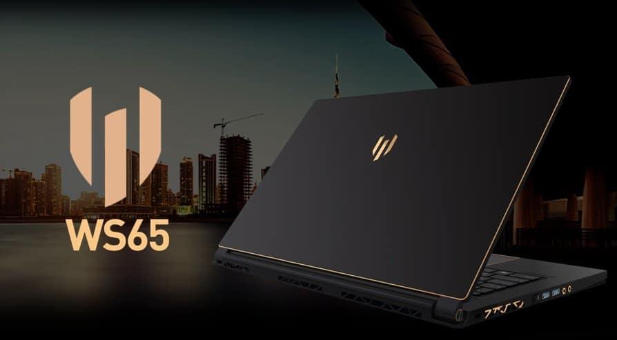 MSI WS65, Ultrabook station de travail pour Pro Coffee Lake Hexa Core i9 Quadro
