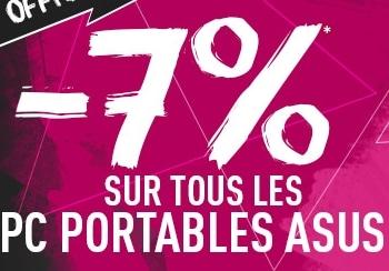 """<span class=""""tagtitre"""">Bon Plan - </span>7% de remise sur tous les PC portables Asus chez Materiel.net"""
