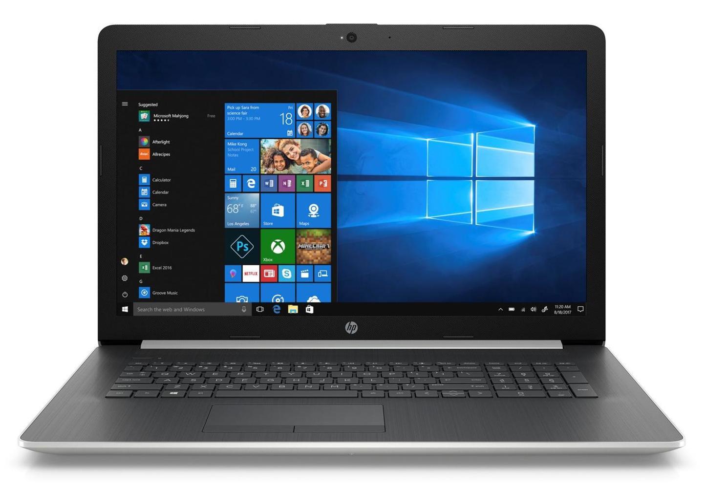 HP 17-by0013nf, PC portable 17 pouces bureautique SSD (449€)