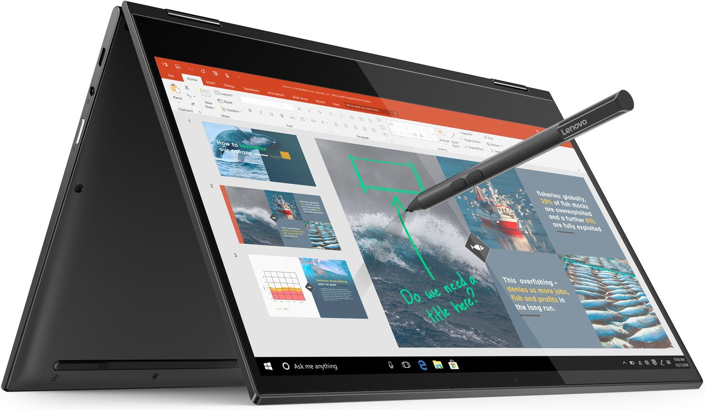 "<span class=""tagtitre"">IFA 2018 - </span>Lenovo Yoga C630 WOS, 13""/Tablette SnapDragon 850 Windows 10"