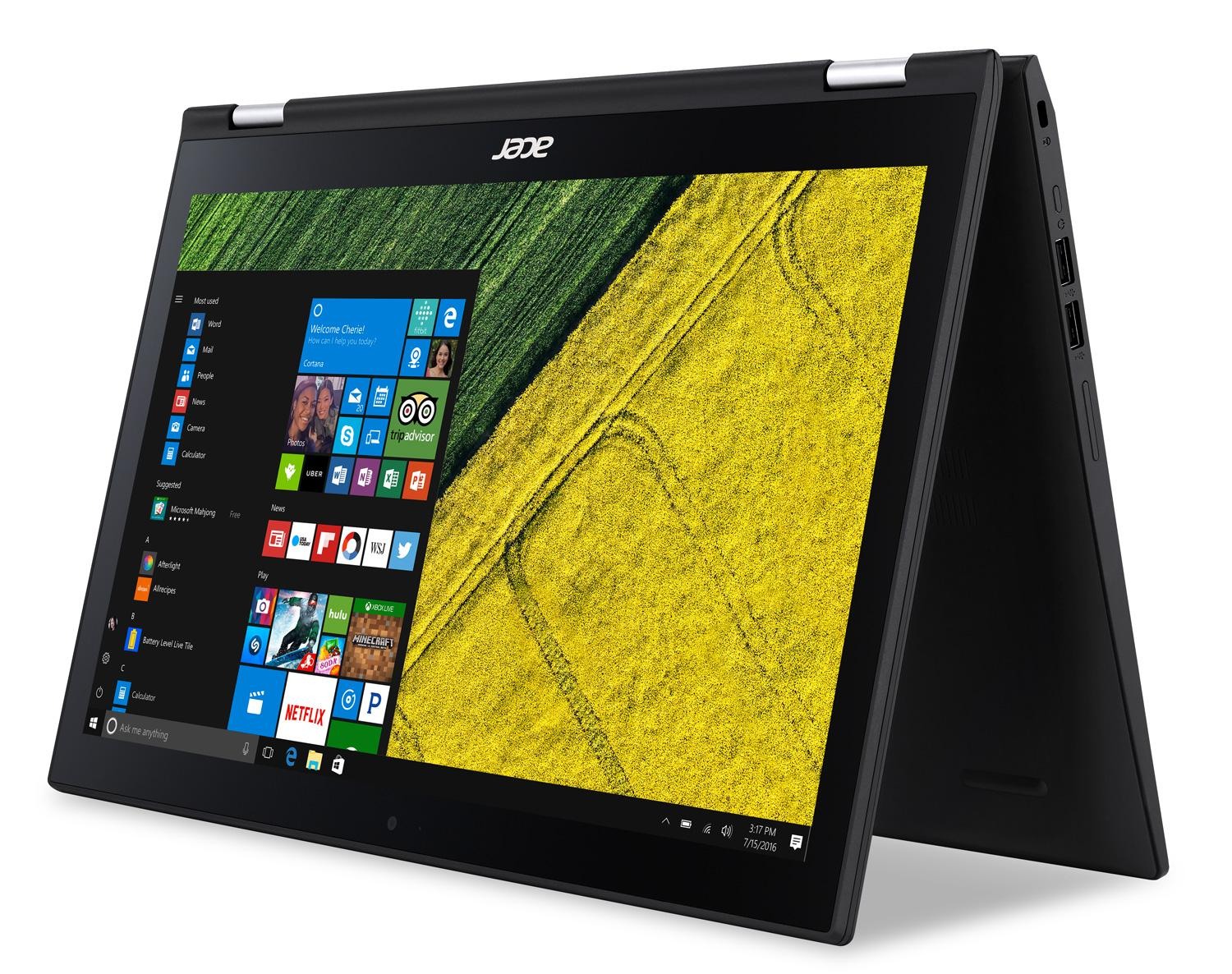 """Acer Spin SP315-51-372X, PC portable 15"""" Tablette i3 SSD 128 Go (367€)"""