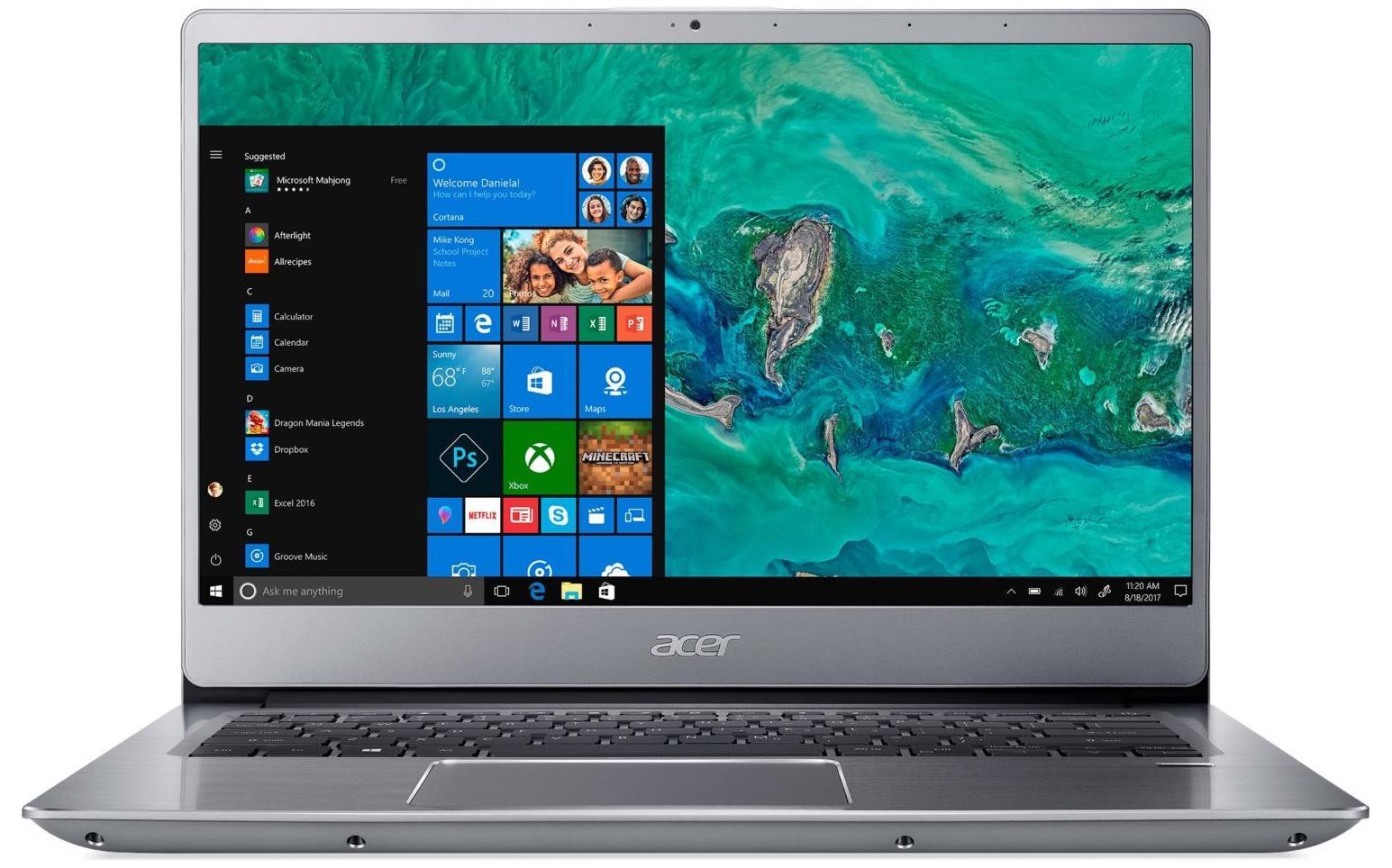 Acer Swift SF314-54-83B0, ultrabook 14 pouces Full IPS Quad i7 SSD256 à 849€