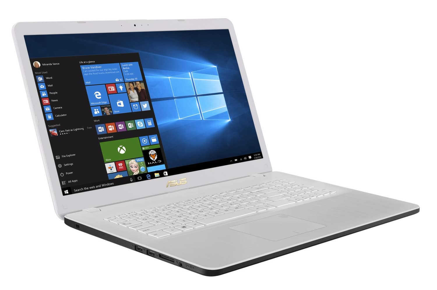 "Asus R702UB-BX103T, PC portable blanc 17"" 8 Go 1 To (489€)"