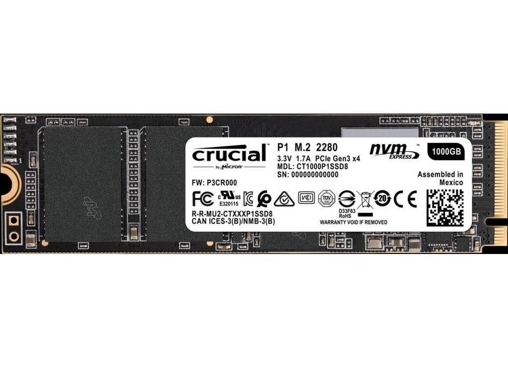Crucial P1, nouveau SSD au format compact M.2 NVMe à mémoire QLC