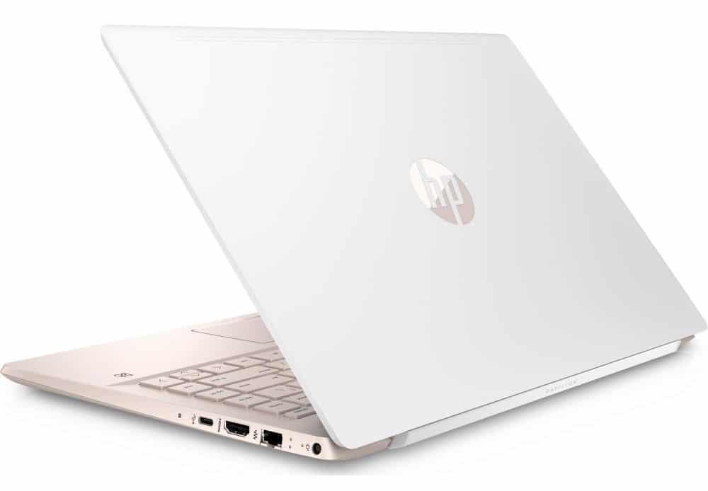 HP Pavilion 14-ce0017nf, ultrabook 14 pouces Blanc Or Quad i5 SSD à 664€