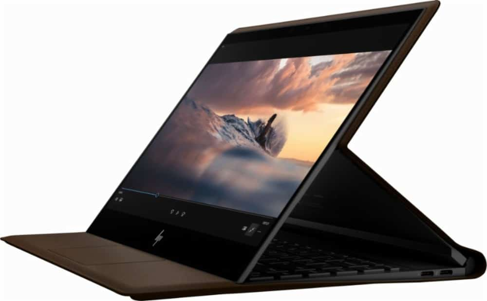 "HP Spectre Folio, Ultrabook / Tablette 13"" IPS tactile Amber Lake en cuir, 18h"