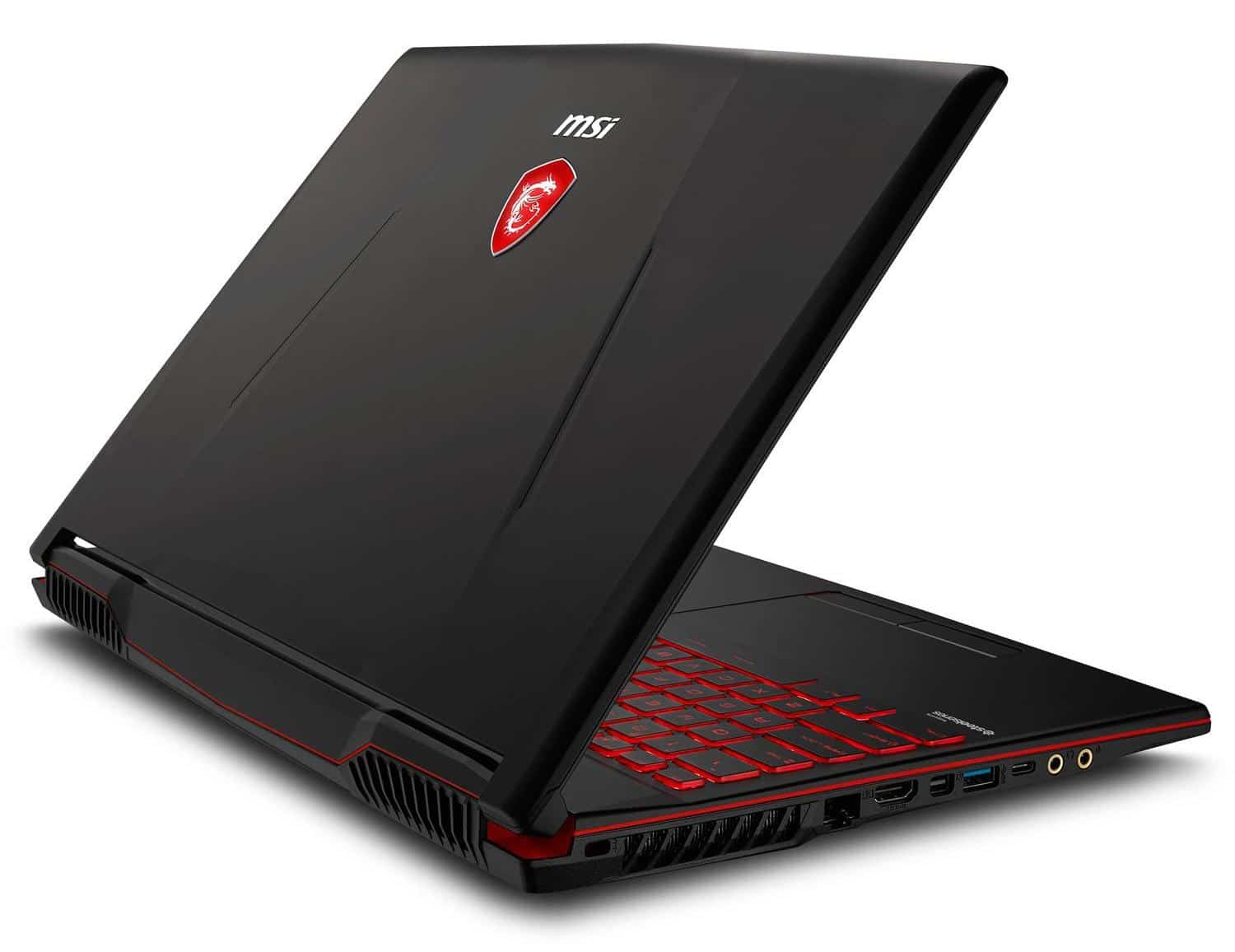 "MSI GL63 8RE-616X, PC portable 15"" gamer 16Go GTX 1060 (989€)"