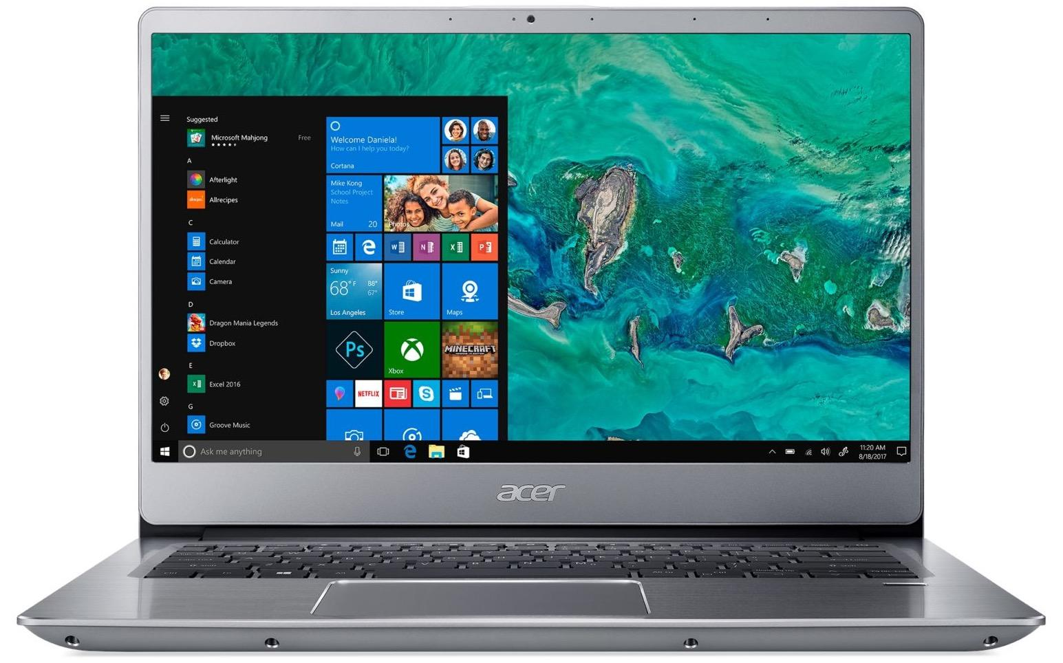 "Acer Swift SF314-54G-55RA, ultrabook 14"" IPS Quad MX150 Optane (594€)"