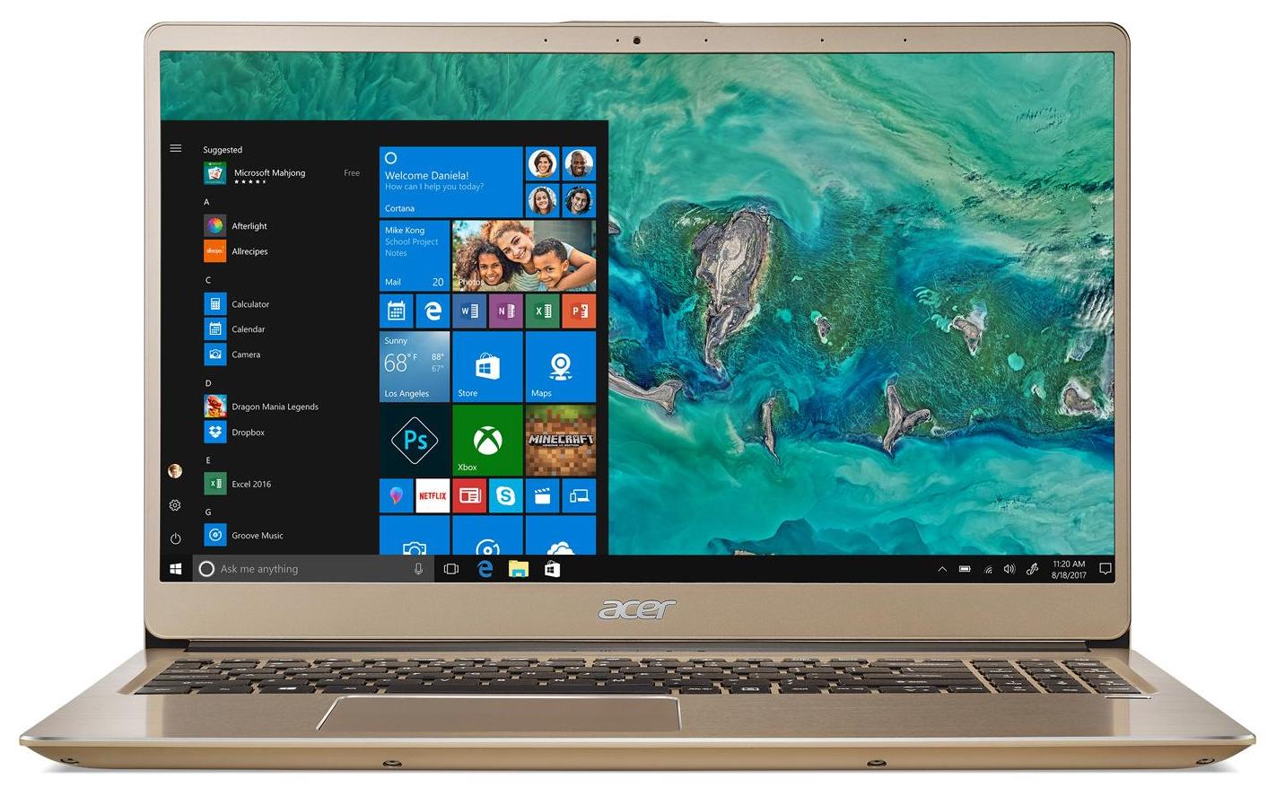"Acer Swift SF315-52-590V, ultrabook 15"" Or Full IPS Quad i5 Optane à 659€"