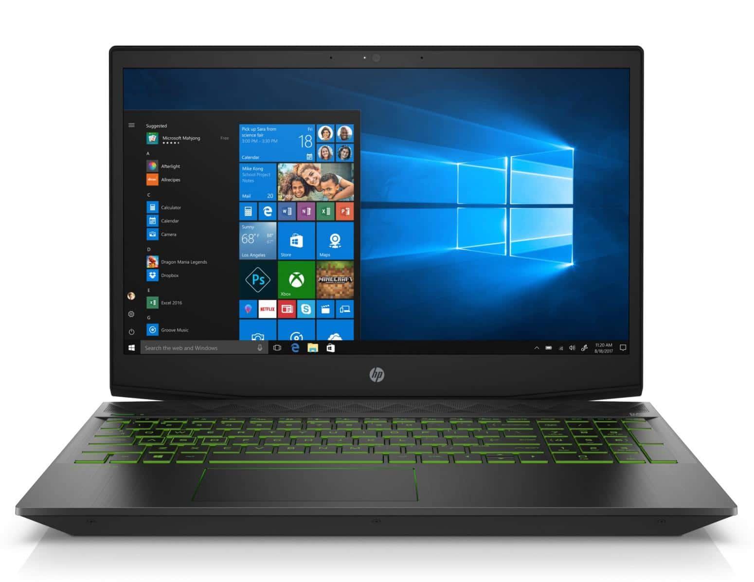 HP Pavilion 15-cx0025nf, PC portable 15 pouces gamer (799€)