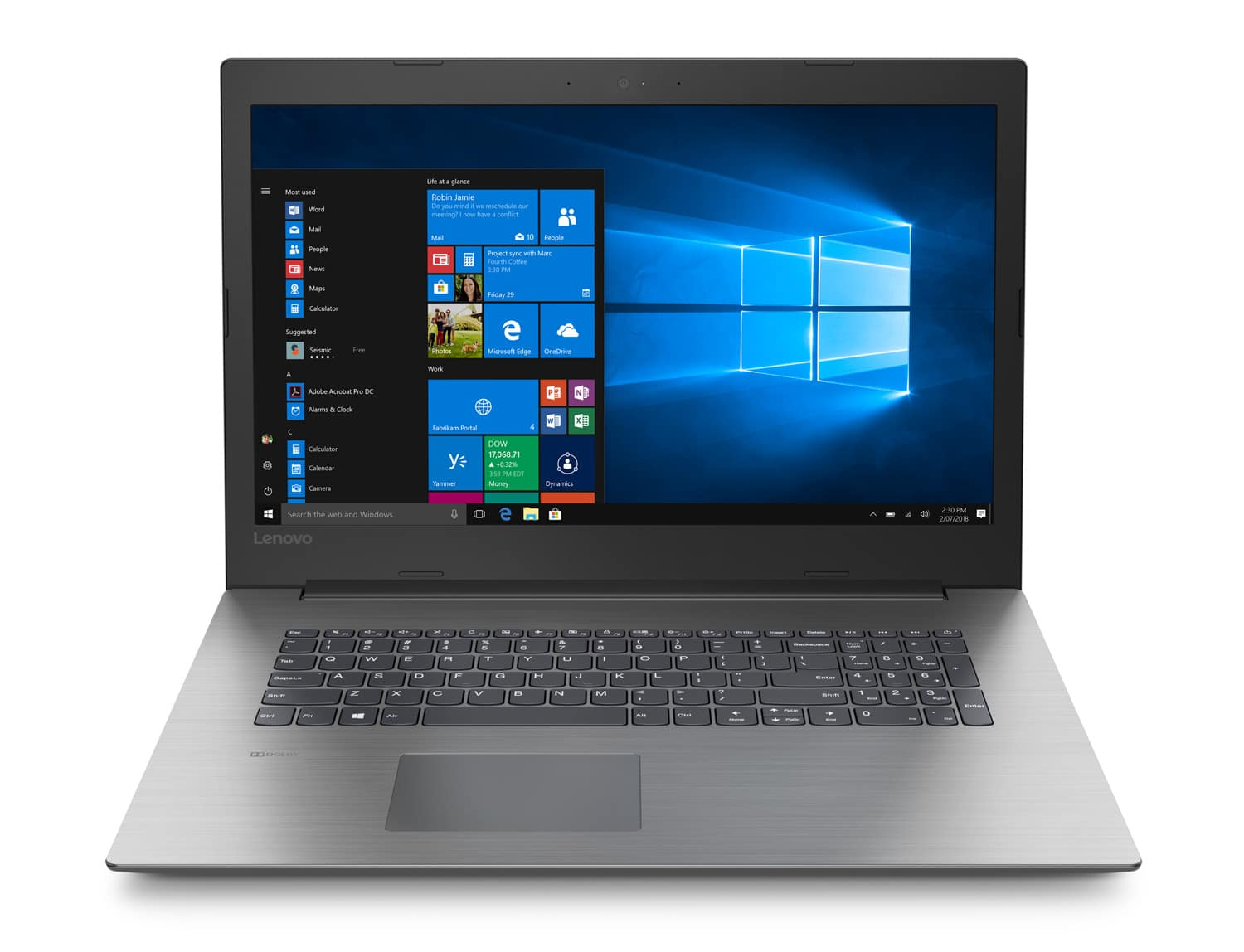 "Lenovo Ideapad 330-17IKB à 509€, PC portable 17"" mat SSD+1 To i3 6 Go"