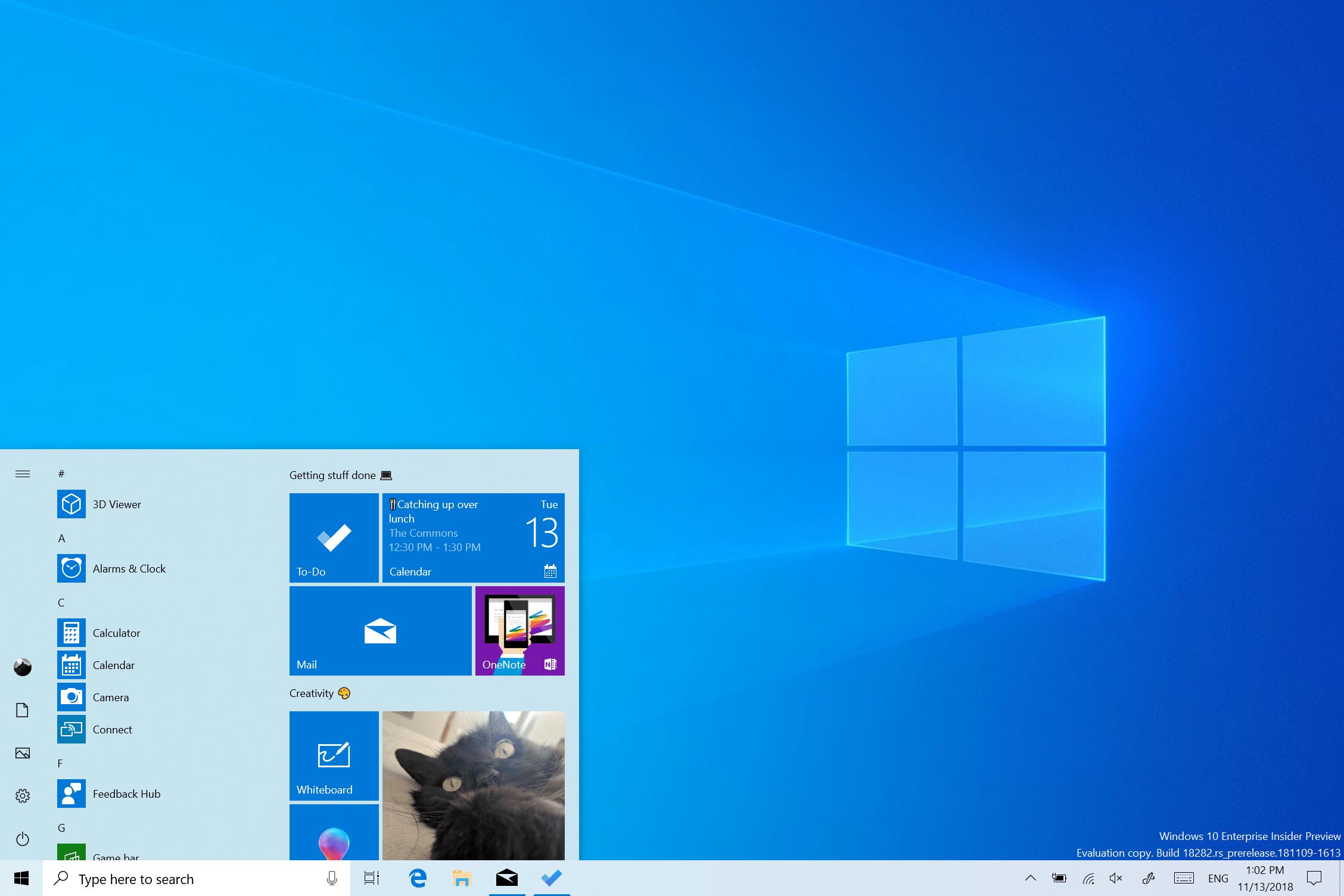 """<span class=""""tagtitre"""">Windows 10 19H1 - </span>nouveau thème clair, améliorations Windows Update, luminosité"""