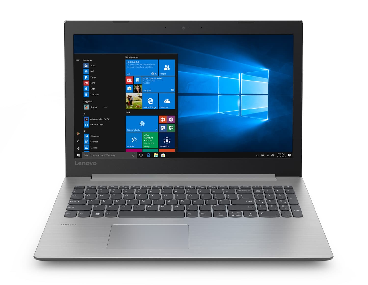 "Lenovo IdeaPad 330-15IKB, PC portable 15"" Full SSD Core i7 MX110 à 799€"