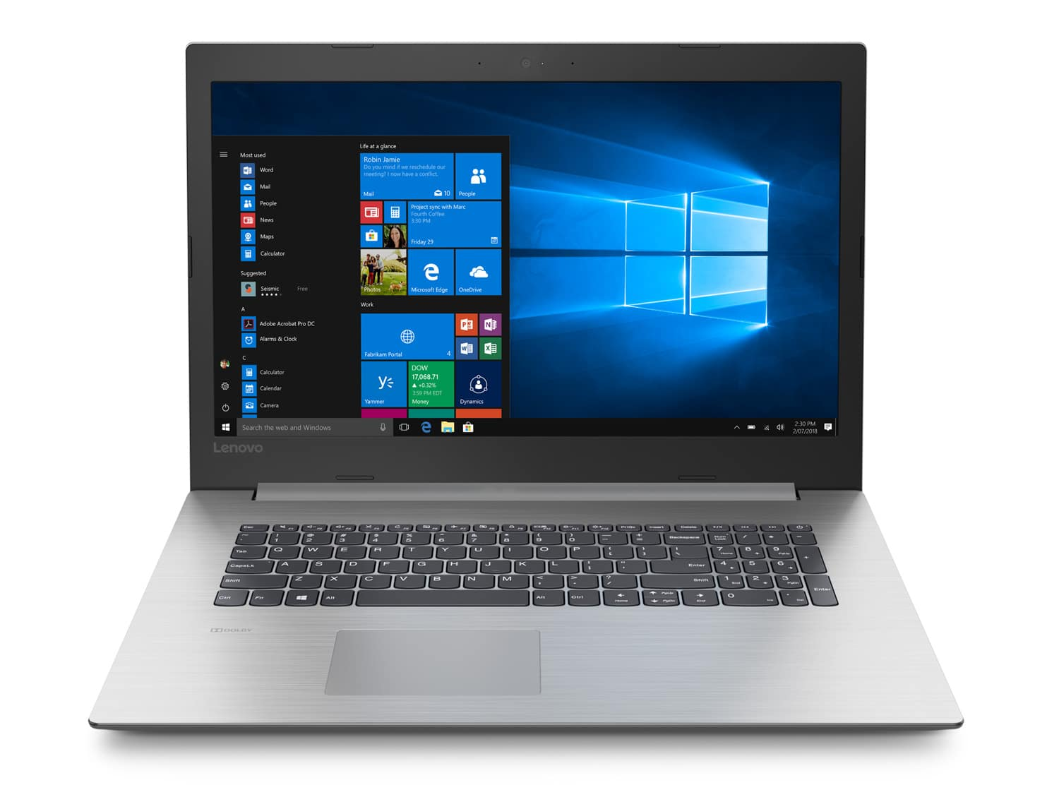 "Lenovo 330-17IKBR, PC portable 17"" mat SSD+1 To Quad i7 Radeon (799€)"